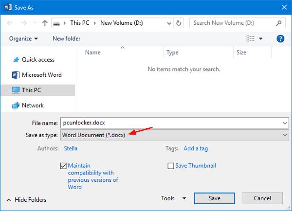 type in word document