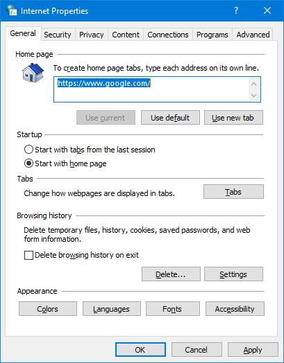 Quick Ways to Open Internet Options in Windows 10 / 8 / 7 | Password