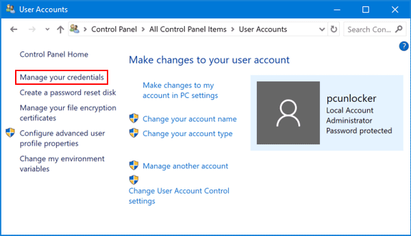 Clear Cached Credentials Windows 10 | Password Recovery