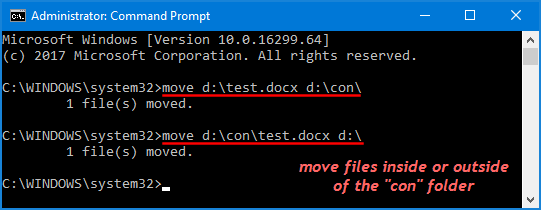 how to open folder in cmd