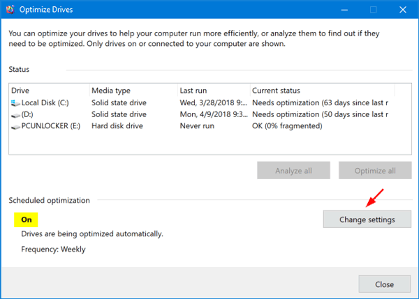 how to run defrag in windows 10