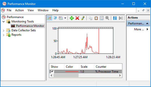 windows 10 how to use performance monitor