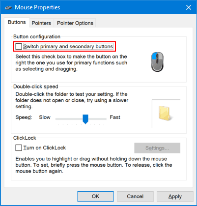 How to Switch Left and Right Mouse Button Functions in