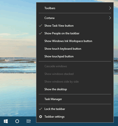how to add context menu on right click