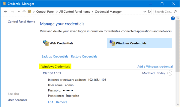 How to Clear Saved Credentials for Network Share or Remote Desktop