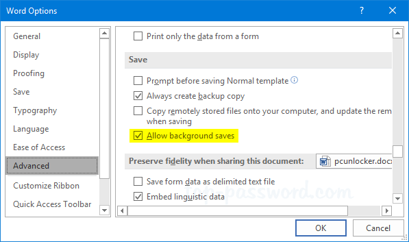 How to Turn on AutoSave in Word/Excel 2016 – 2007 | Password