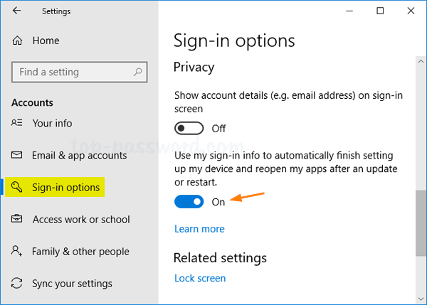 Windows 10 Auto Login After Update Password Recovery