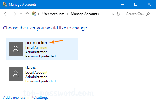 how to change user name windows 10 local account