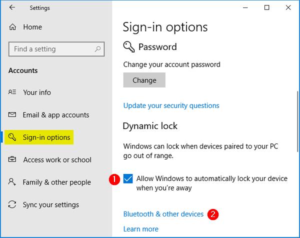 how to change password lock on windows 10