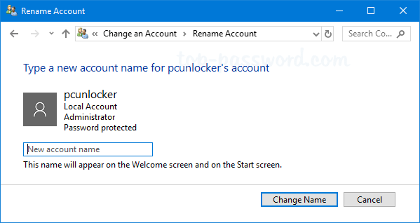 windows 10 how to change name of user account