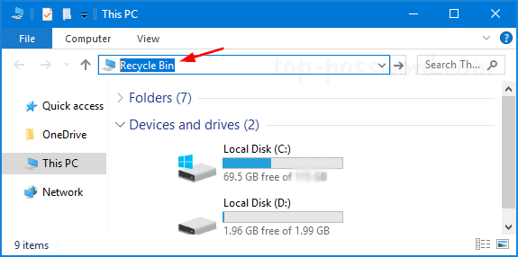 7 Ways to Open Recycle Bin in Windows 10 | Password Recovery