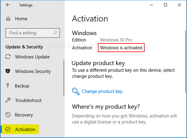 how to find my windows key in windows 10