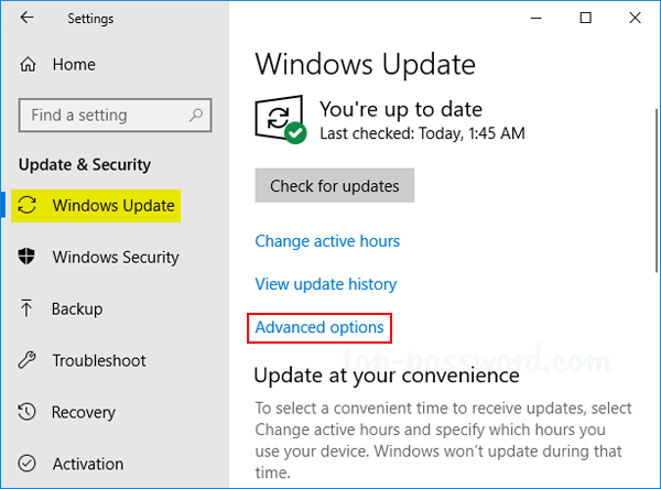 How To Set A Download Bandwidth Limit For Windows 10 Update Password Recovery