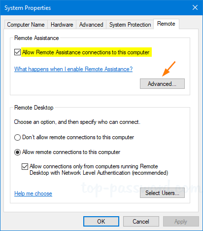 2 Ways to Enable Remote Assistance in Windows 10 / 8 / 7 | Password