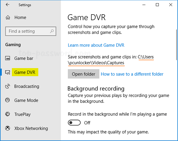 How to Find and Change Game DVR Save Location in Windows 10
