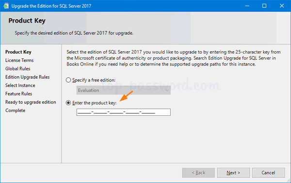How to Change Product Key for SQL Server 2017 / 2016 / 2014