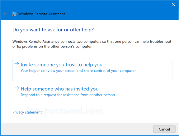 How to Open Remote Assistance in Windows 10 / 8 / 7
