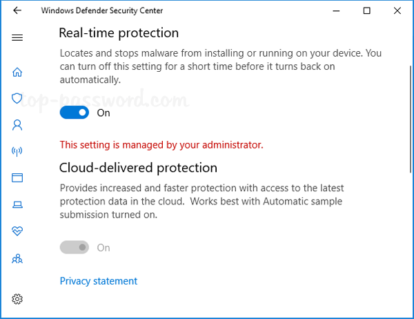 how to change security level in windows 10