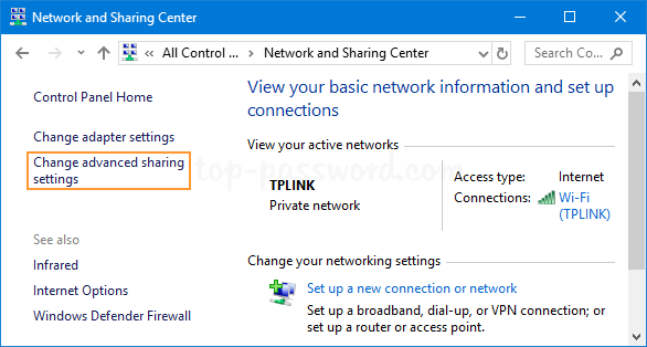 how to change turn on computer password