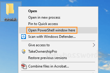 "How to Remove ""Open PowerShell window here"" Context Menu in"