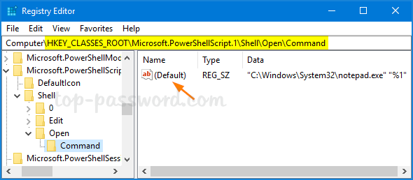 How to Set  PS1 Script to Open with PowerShell By Default