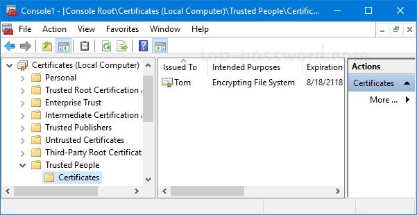 How to View Installed Certificates in Windows 10 / 8 / 7