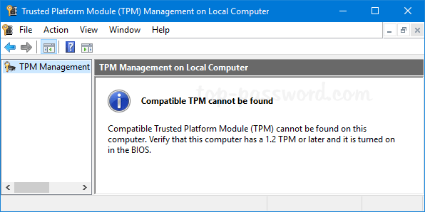 How To Check Tpm Version | Password Recovery