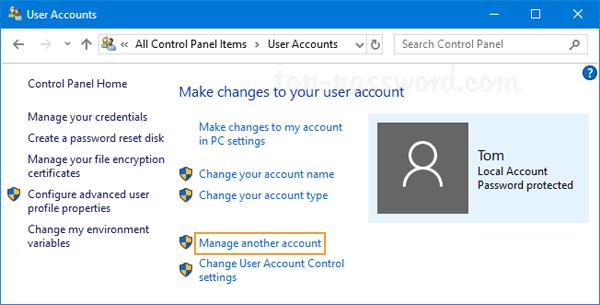 change user account windows 7