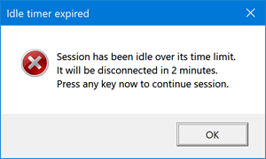 Automatically Log off Idle Remote Desktop Sessions in Windows