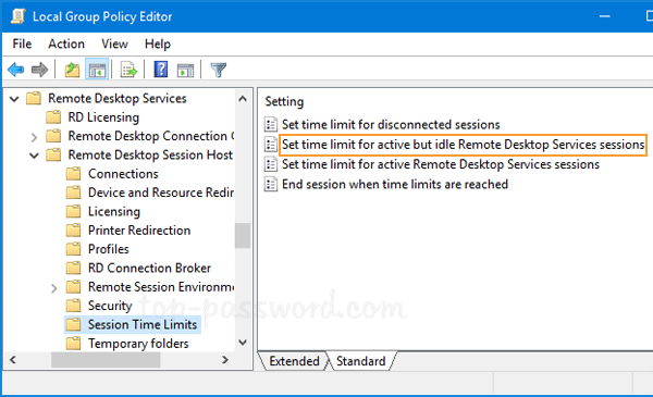 Automatically Log off Idle Remote Desktop Sessions in