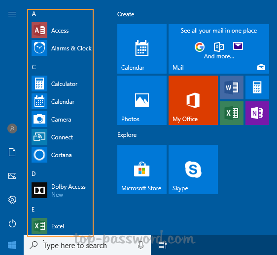 "How to Hide / Remove the ""All apps"" List in Windows 10 Start"