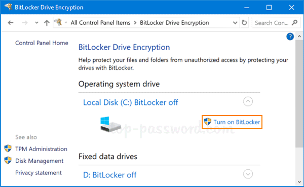 Step-by-Step Tutorial to Enable BitLocker on Windows 10 OS Drive