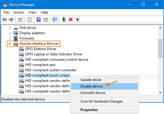 Disable Touch Screen From Command Prompt | Password Recovery