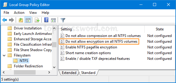 3 Ways to Disable EFS (Encrypting File System) in Windows 10