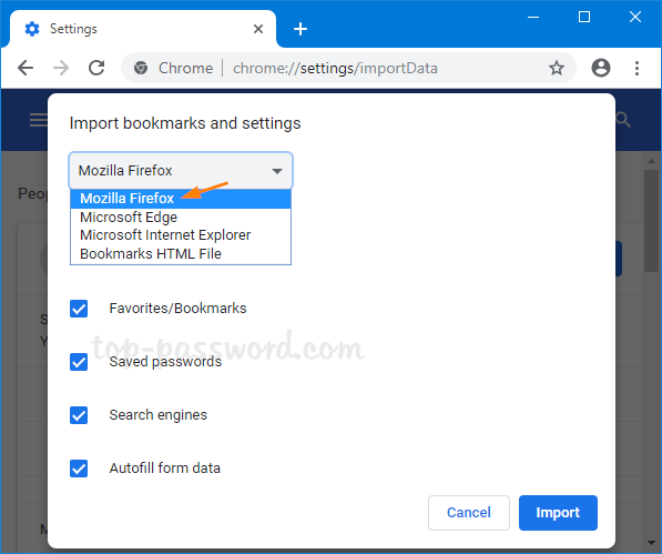 How to Import Passwords into Chrome from Firefox in Windows 10