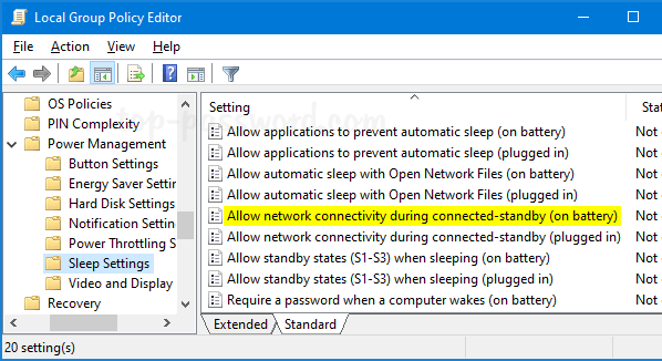 Prevent Windows 10 from Disconnecting Network during Sleep