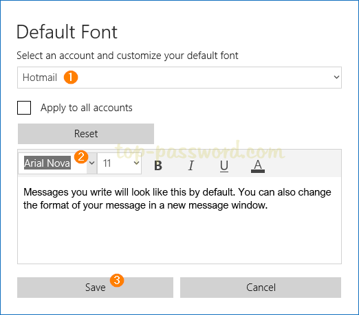 3 Steps to Change Default Font for Mail App in Windows 10 | Password