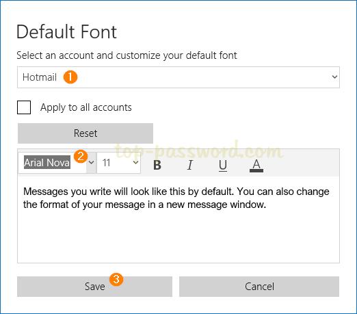 3 Steps To Change Default Font For Mail App In Windows 10