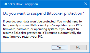 Suspend Bitlocker For Bios Update | Password Recovery