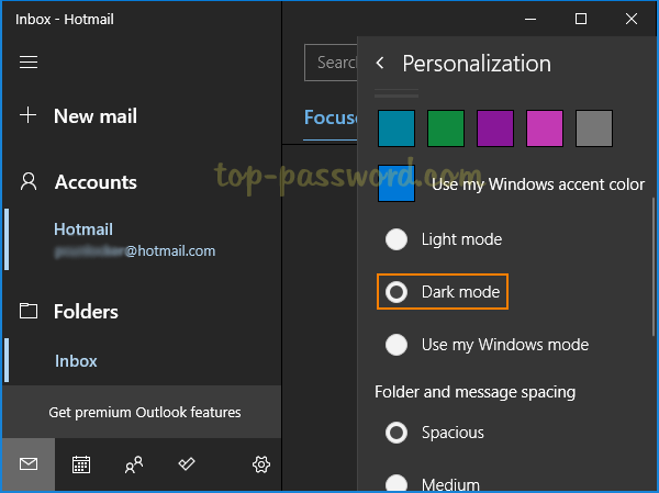 3 Steps to Enable Dark Mode for Windows 10 Mail App | Password Recovery