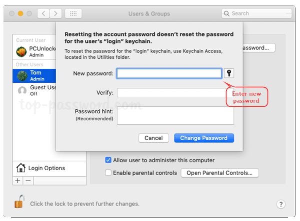 how to remove administrator password on mac