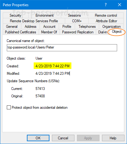 How to Find AD User Creation Date in Windows Server