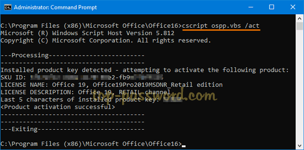 How to Change Office 2019 / 2016 Product Key with Ease | Password