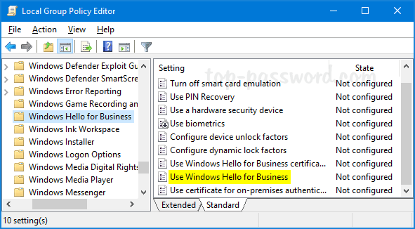How to Disable Windows Hello PIN Setup in Windows 10