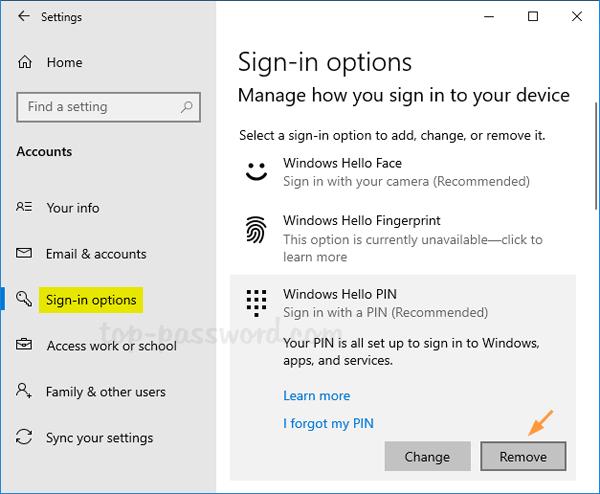 Cách Thêm / Xóa Vân Tay Cho Tài Khoản Trong Windows 10 - VERA STAR