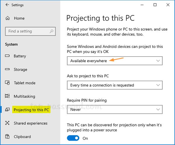 Windows 10 Screen Mirroring | Password Recovery