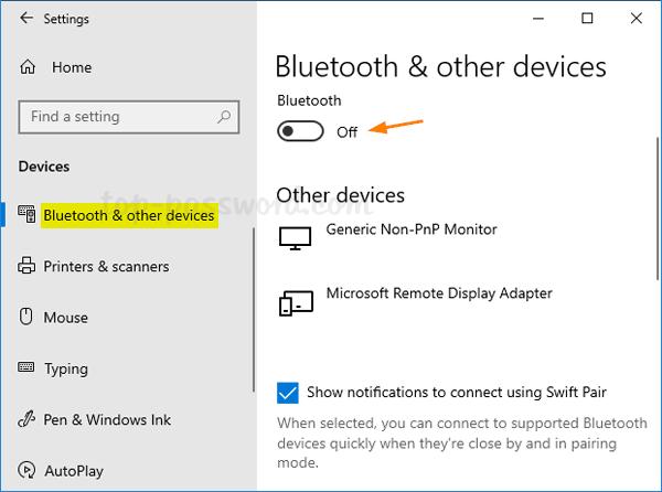 cara menyalakan bluetooth windows 10
