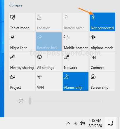 Cara Menyalakan Bluetooth Laptop Windows10