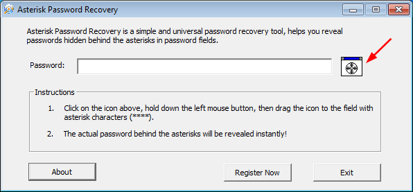Click to view Asterisk Password Recovery screenshots
