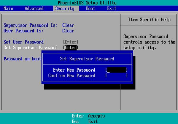 BIOS password